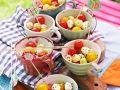Melon, Tomato and Mozzarella Balls recipe