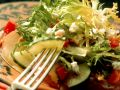 Mixed Salad with Pear and Feta Cheese recipe