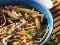 Mushroom, Corn, and Noodle Soup recipe