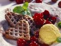 Nut Waffles with Cherry Sauce recipe