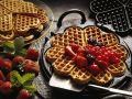 Oatmeal Waffles with Berries recipe