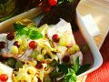 Pappardelle Pasta with Cod Fillets and Grapes recipe