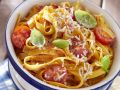 Pappardelle with Cherry Tomatoes, Basil and Cheese recipe