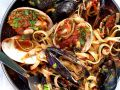 Pasta with Mussel and Tomato Sauce recipe