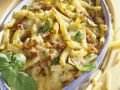 Penne and Zucchini Gratin with Ham recipe