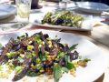 Griddled Eggplant with Pignoli recipe