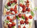 Pizza with Tomato, Mozzarella and Basil recipe