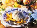 Poppy Dumplings with Peach Compote recipe