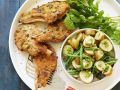 Pork Chop and Potato Salad with Green Beans recipe