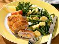 Pork Cordon Bleu with Potato and Green Bean Salad recipe