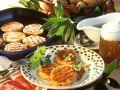 Potato Patties with Onion and Cucumber Vinaigrette recipe