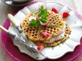 Potato Waffles with Radish Cream recipe