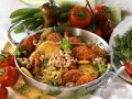 Potatoes with Tomatoes, Shrimp and Cress recipe