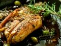 Rabbit with Herbs and Olives recipe