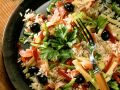 Rice Salad with Ham, Olives and Peppers recipe