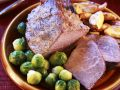 Roast Ham with Sprouts recipe