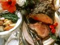Roast Prime Rib with Baked Tomatoes recipe