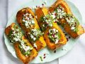 Roast Squash with Feta and Pomegranate recipe