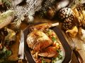 Roast Venison with Chanterelle Mushrooms and Cranberries recipe