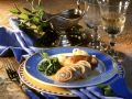 Roulades with Ham, Spinach and Garlic Filling recipe