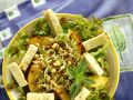 Salad with Sprouts, Nectarines and Croutons recipe