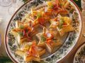 Salmon Salad with Watercress and Pastry Stars recipe