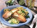 Salmon with Pasta and Lime Hollandaise recipe