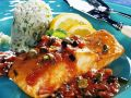 Salmon with Tomato and Capers Sauce recipe