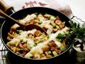 Sausage and Potato Skillet with Gouda recipe
