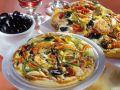 Shrimp, Polenta and Vegetable Omelet recipe