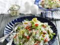 Sliced Radish with Rice and Favas recipe