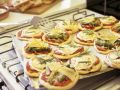 Small Pizzas with Goat Cheese and Asparagus recipe