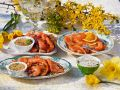 Smoked and Pickled Salmon Platters recipe