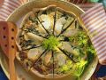 Spinach and Cod Quiche recipe