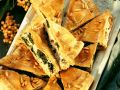 Spinach Pie with Feta and Pine Nuts recipe