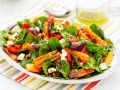 Spinach Salad with Carrots, Pumpkin and Feta recipe