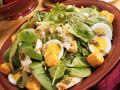 Spinach Salad with Pan-Roasted Chicken Breasts recipe