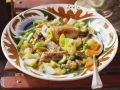 Stew with Vegetables, Pork Ribs and Chicken Legs recipe