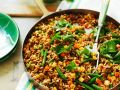 Stir Fried Rice with Meat and Vegetables recipe