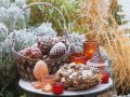 Table Decorated with Pine Cones and Spice Wreath recipe