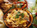 Tagliatelle with Turkey Breast and Mushrooms recipe