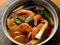 Thai Style Shrimp Soup with Scallions recipe