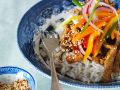 Thai-Style Sliced Pork with Vegetables and Rice recipe