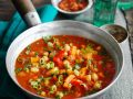 Tomato Soup with Chicken Breast and Vegetables recipe