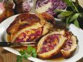 Veal Breast Stuffed with Red Cabbage and Pumpkin recipe