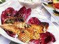 Veal Medallions with Radicchio Salad and Tuna Cream recipe