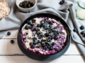 Vegan Overnight Oats with Blueberries and Coconut recipe
