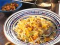Vegetable Fried Rice with Cabbage, Carrots and Raisins recipe