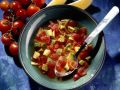 Vegetable Soup with Tomato and Avocado recipe