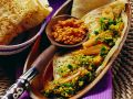 Vegetables with Lentils and Flatbread recipe